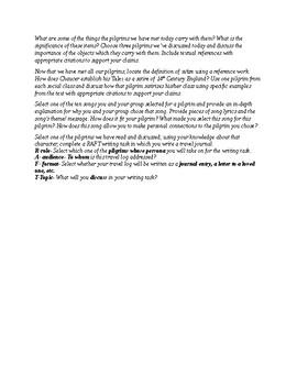 Canterbury Tales Journal Responses