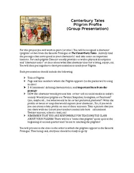 Canterbury Tales Modern Day Pilgrim Project