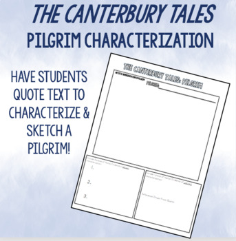 Canterbury Tales: Pilgrim Characterization Activity