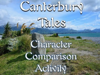 Canterbury Tales Pilgrim Modern Comparison Activity-Textua