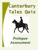 Canterbury Tales: Prologue Quiz-Assessment-Test on Chaucer
