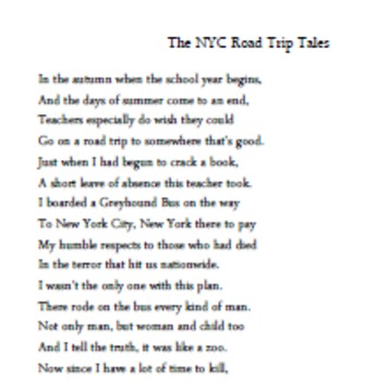 Canterbury Tales Poetry Writing Assignment