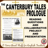 CANTERBURY TALES Prologue Comprehension/Analysis & Collaborative Project