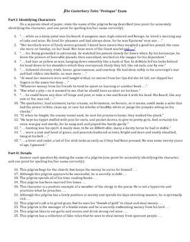 Canterbury Tales Prologue Unit