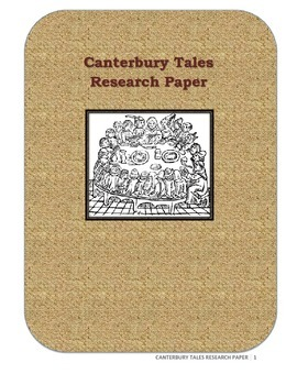 Canterbury Tales Research Paper (Common Core Aligned)