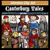 "Canterbury Tales Set 1- Medieval ""Age of Chaucer"" Clip-Art. 24 Pieces!"