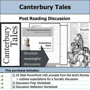 Canterbury Tales - Socratic Method - Post Reading Discussions