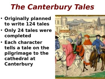 Canterbury Tales Overview Presentation