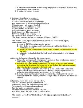 Canterbury Tales Test
