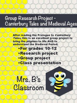 Canterbury Tales and Medieval Period - Research Project