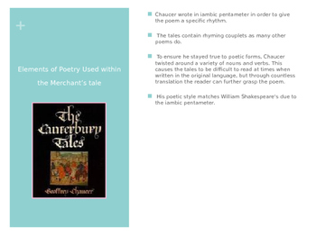 Canterbury Tales by Chaucer PowerPoint