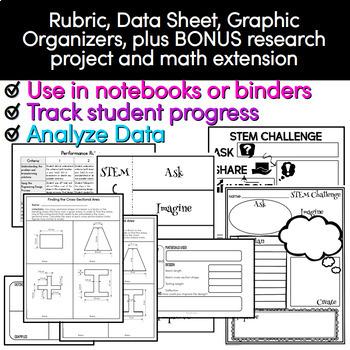 STEM Challenge - Cantilever STEM Activity Exploring Cross Sections