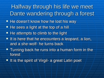 Canto 1-3 Dante's Inferno Powerpoint