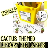 Cactus Themed Library Labels Editable