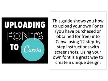 Canva Design Program - Uploading Fonts Guide