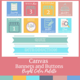 Canvas Buttons and Banners Digital Classroom Bright Color Scheme