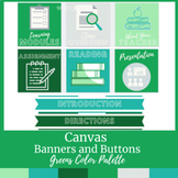 Canvas Buttons and Banners Greens Color Scheme