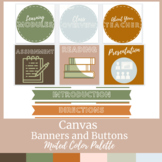 Canvas Buttons and Banners Muted Color Scheme