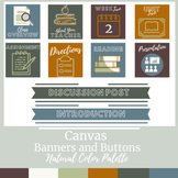 Canvas Buttons and Banners Natural Color Scheme