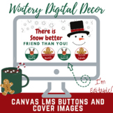 Canvas Buttons and Banners Whimsical Winter Themed Digital