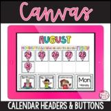 Canvas Calendar Buttons