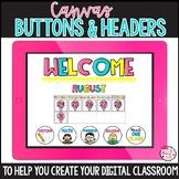 Canvas Headers, Buttons, and Calendar