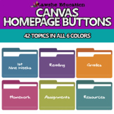 Canvas Home Page Button Canvas Buttons Folders Distance Learning