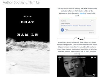 Canvas Package—Short Stories and New Media—The Boat by Nam Le