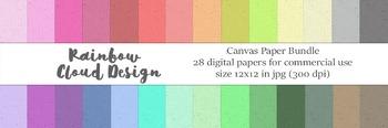 Canvas Paper Bundle, 28 digital papers, size 12x12, 300 dp