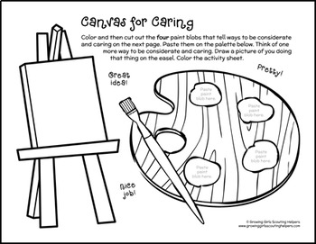 Canvas for Caring - Girl Scout Daisies - Zinni - Spr. Green Petal (Steps 2 & 3)