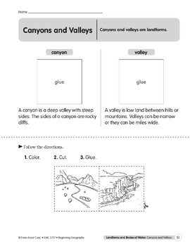 Canyons and Valleys