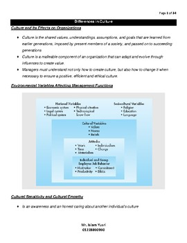 Caomparative International Management