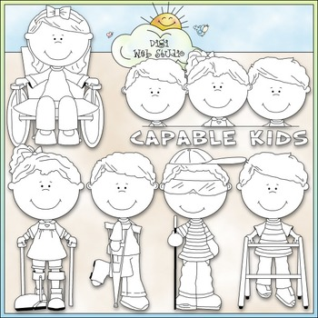 Capable Kids 1 - Commercial Use Clip Art & Black & White Images