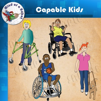Capable Kids Clipart