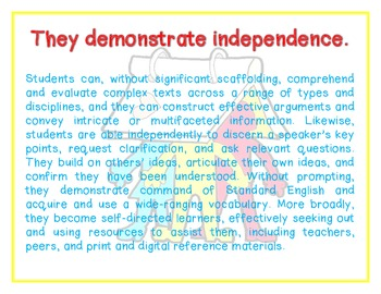 Capacities of a Literate Individual Posters