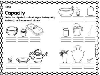 Capacity Activities for Beginners