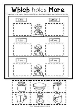 Capacity - Non Standard Measurement for Kindergarten / Grade One