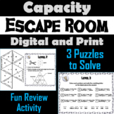 Converting Customary Units of Capacity Escape Room: Ounce Cup Pint Quart Gallon