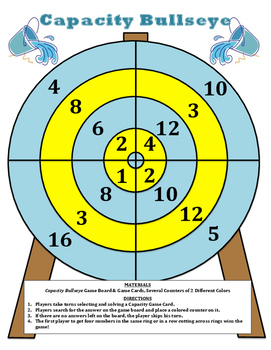 Capacity Bullseye - A 2-Player Game to Practice Converting Units of Capacity