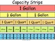 Capacity Conversion Strips- gallon, 1/2 gallon, quart, pin