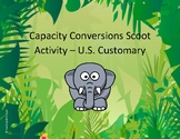 Capacity Conversions Scoot Activity/Task Cards (U.S. Customary)
