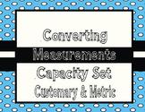 Capacity- Converting Metric and Customary Capacity QR Task Cards TEKS 4.8
