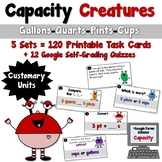Capacity Creatures Task Cards- Customary Units