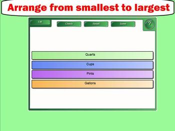 Capacity - Cups, Pints, Quarts, and Gallons - Smartboard