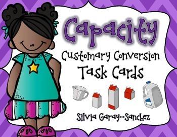 Capacity Customary Conversion Task Cards