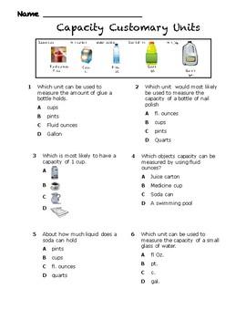 Capacity Customary with Fluid ounces