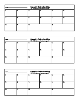Capacity Estimate Task Cards VA SOL 2.11c