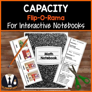 Capacity Vocabulary Interactive Notebook