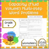 Capacity (Fluid Volume) Multi-step Word Problems 4th Grade Measurement (4.MD.2)