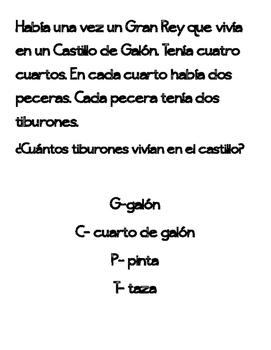 Capacity Graphic Organizer Spanish